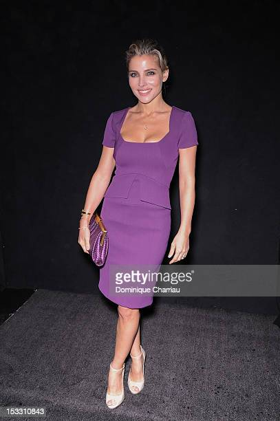 Elsa Pataky attends the Elie Saab Spring/Summer 2013 show as part of Paris Fashion Week at Espace Ephemere Tuileries on October 3, 2012 in Paris,...