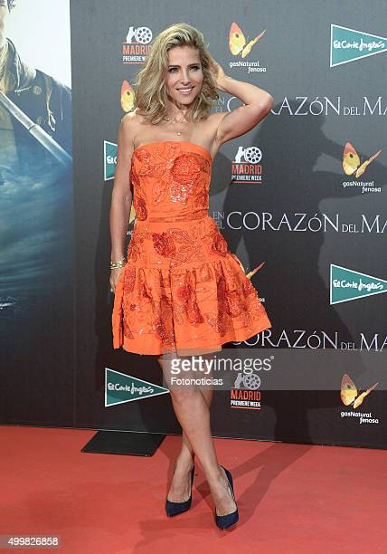 Elsa Pataky attends the 'In The Heart Of The Sea' Premiere at Callao Cinema on December 3 2015 in Madrid Spain