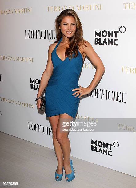 Elsa Pataky attends the Montblanc Party held at the Terraza Martini during the 63rd Annual International Cannes Film Festival on May 14, 2010 in...