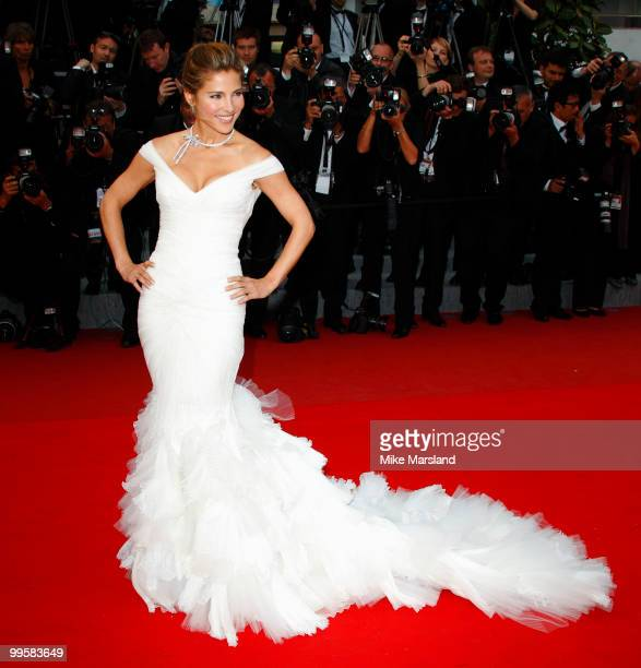 Elsa Pataky attends the 'You Will Meet A Tall Dark Stranger' Premiere held at the Palais des Festivals during the 63rd Annual International Cannes...