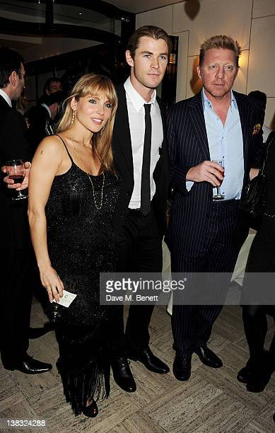 Elsa Pataky Chris Hemsworth and Boris Becker attend a private Laureus Awards predinner hosted by Georges Kern CEO of IWC Schaffhausen at Cipriani on...