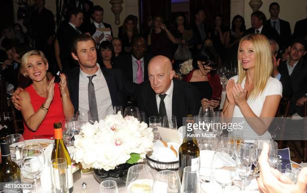 Elsa Pataky Chris Hemsworth Brian Lourd and Gwyneth Paltrow attend the 3rd annual Sean Penn Friends HELP HAITI HOME Gala benefiting J/P HRO presented...