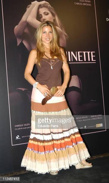 Elsa Pataky during 'Ninette' Madrid Photocall at Madrid in Madrid Spain