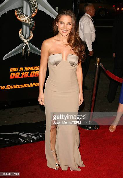 Elsa Pataky during Snakes on a Plane Los Angeles Premiere Arrivals at GraumanIs Chinese Theatre in Hollywood California United States