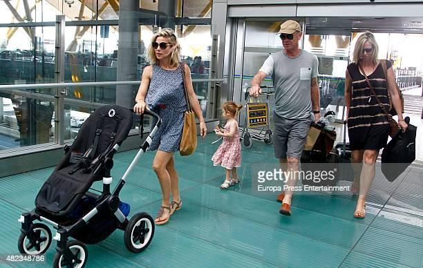 Elsa Pataky , her daughter Indian Rose Hemsworth, her father-in-law Craig Hemsworth and her mother-in-law Leonie Hemsworth are seen on July 7, 2015...