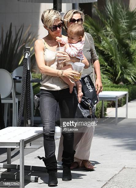 Elsa Pataky India Rose Hemsworth and Cristina Pataky are seen at Katsuya 2GO on May 17 2013 in Los Angeles California