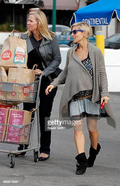 Elsa Pataky is seen at Whole Foods Market with her motherinlaw Leonie Hemsworth on February 04 2014 in Los Angeles California