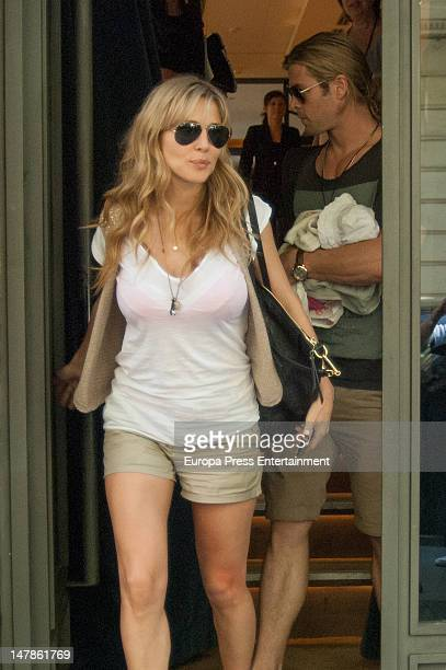 Elsa Pataky is seen going shopping on July 4, 2012 in Madrid, Spain.