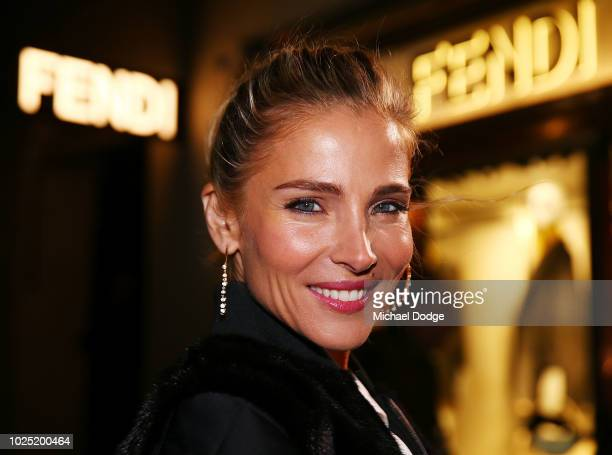 Elsa Pataky poses at the FENDI Melbourne Flagship Store Opening on August 30 2018 in Melbourne Australia