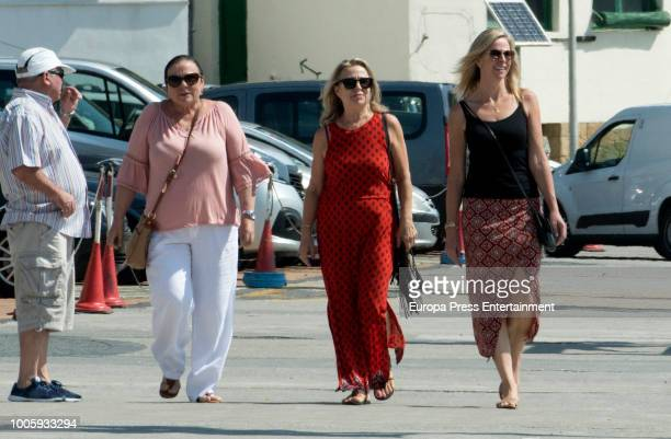Elsa Pataky's mother Cristina Medianu and Chris Hemsworth's mother Leonie Hemsworth are seen on July 26 2018 in San Sebastian Spain