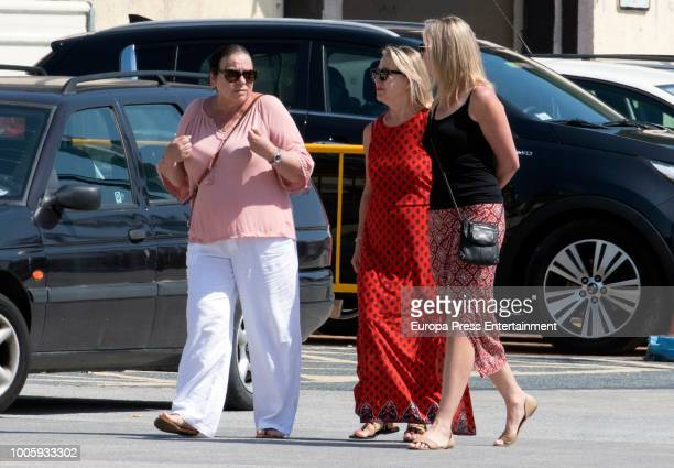 Elsa Pataky's mother Cristina Medianu and Chris Hemsworth's mother Leonie Hemsworth are seen on July 26, 2018 in San Sebastian, Spain.