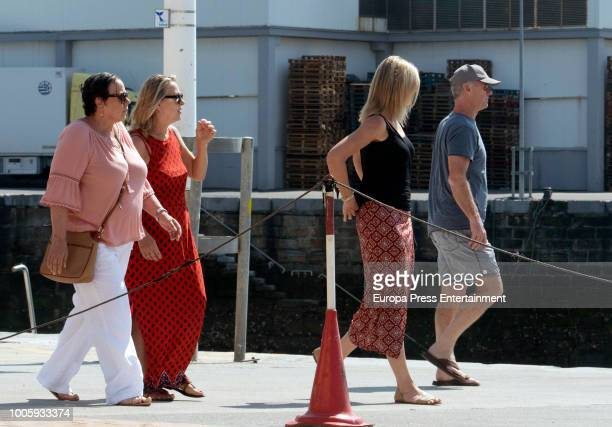 Elsa Pataky's mother Cristina Medianu and Chris Hemsworth's parents Craig Hemsworth and Leonie Hemsworth are seen on July 26 2018 in San Sebastian...