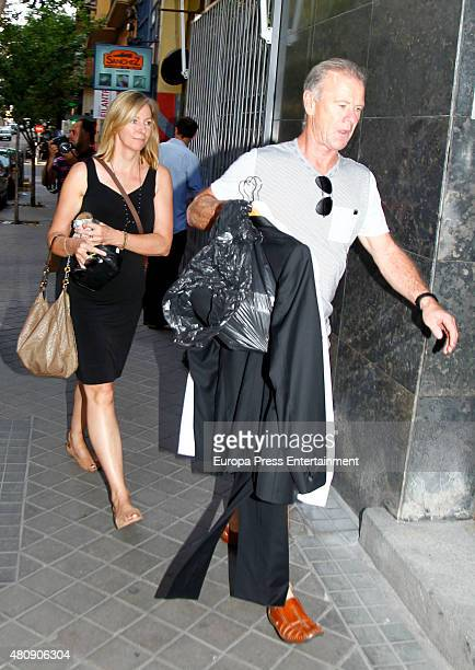 Elsa Pataky's mother-in-law Leonie Hemsworth and her father-in-law Craig Hemsworth are seen on July 7, 2015 in Madrid, Spain.