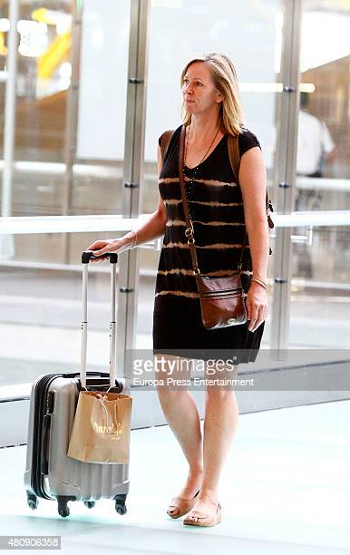 Elsa Pataky's motherinlaw Leonie Hemsworth is seen on July 7 2015 in Madrid Spain