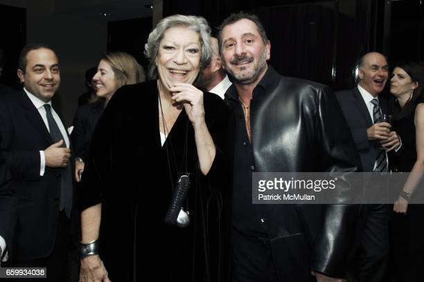 Elsa Peretti and Ralph Rucci attend ELSA PERETTI Celebrates 35 Years with TIFFANY & Co. At Tiffany & Co. On December 10, 2009 in New York City.