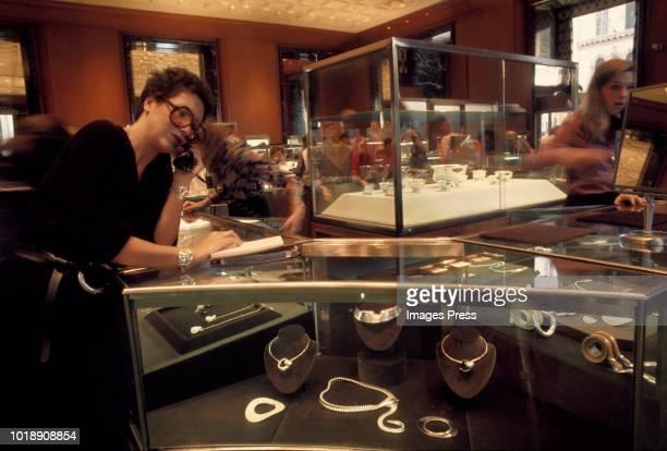 Elsa Peretti jewelry circa 1970 in New York.