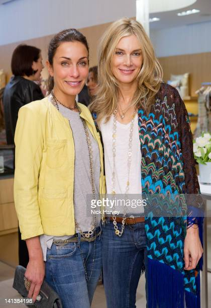 Elsa Pintaldi and Kim Hersov attend lunch hosted by Angela Missoni and Kim Hersov at Missoni on March 15 2012 in London England