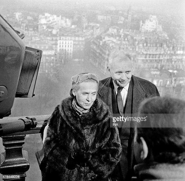 Elsa Triolet and Louis Aragon interviewees for the program In Frenchman in the text