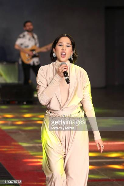 Elsa y Elmar performs during the Larissa Torres of 'Colectivo Diseño Mexicano' show as part of the MercedesBenz Fashion Week Mexico Fall/Winter 2019...