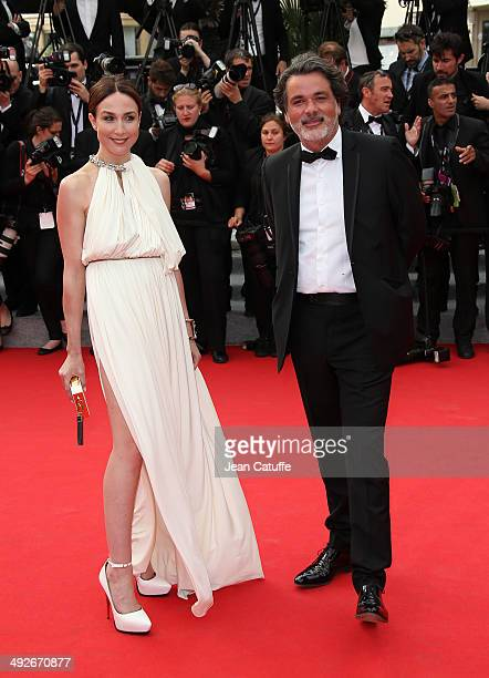 Elsa Zylberstein and Christophe Barratier attend 'The Search' premiere during the 67th Annual Cannes Film Festival on May 21, 2014 in Cannes, France.