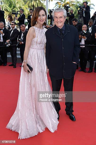 Elsa Zylberstein and Claude Lelouch attend the Premiere of 'Mia Madre' during the 68th annual Cannes Film Festival on May 16 2015 in Cannes France