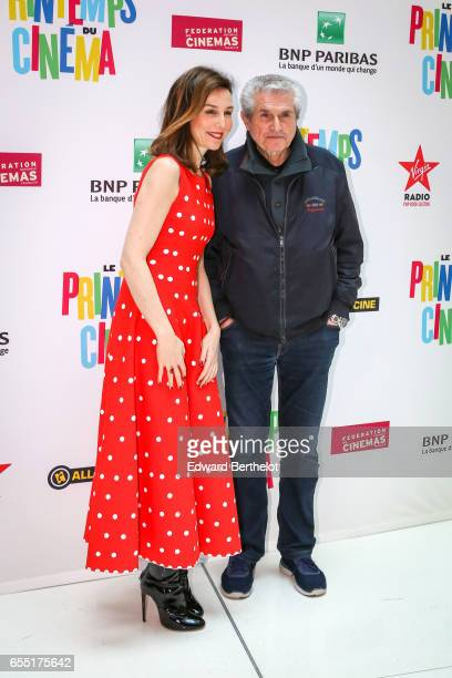 Elsa Zylberstein and Claude Lelouch attend the Printemps Du Cinema 2017 Opening Ceremony at Cinema Pathe Beaugrenelle on March 19 2017 in Paris France