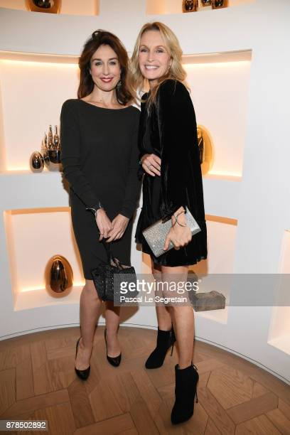 Elsa Zylberstein and Estelle Lefebure attend Christofle SaintHonore Boutique Opening on November 23 2017 in Paris France