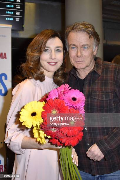 Elsa Zylberstein and Franck Dubosc attend the 19th 'Le Printemps Du Cinema' photocall at the UGC Cine Cite Bercy on March 18 2018 in Paris France