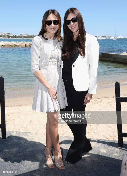 Elsa Zylberstein and Gisella Marengo attend the Ischia Global Fest 2013 Press Conference during the 66th Annual Cannes Film Festival at the Italian...
