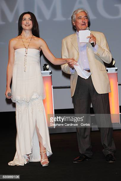Elsa Zylberstein and JeanLoup Dabadie attend a tribute in honor of Andy Garcia during the 35th Deauville American Film Festival