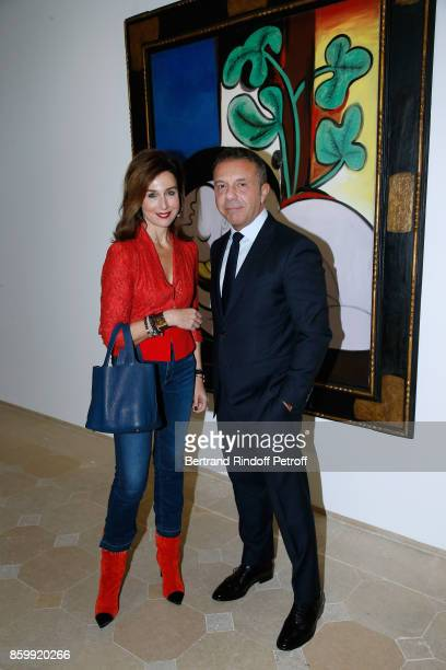 Elsa Zylberstein and Olivier Widmaier Picasso attend the 'Picasso 1932' Exhibition Opening at Musee national PicassoParis on October 10 2017 in Paris...