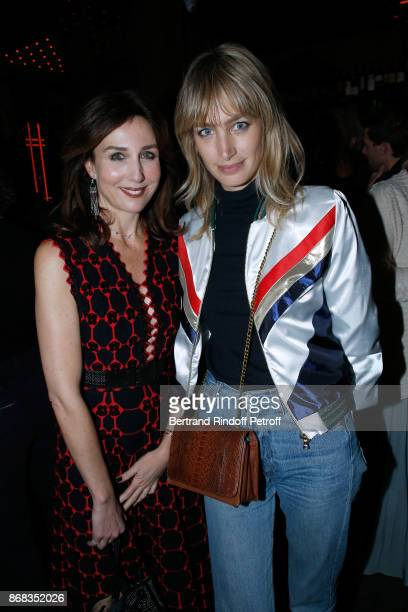 Elsa Zylberstein and Pauline Lefevre attend Claude Lelouch celebrates his 80th Birthday at Restaurant Victoria on October 30 2017 in Paris France