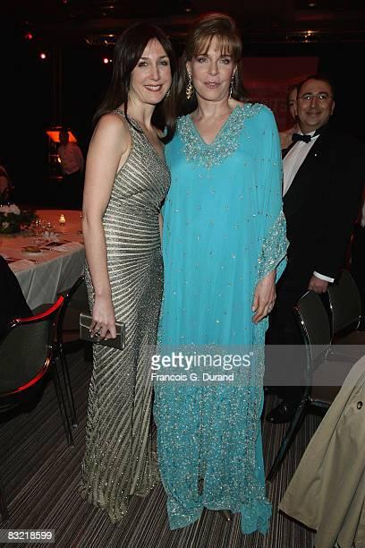 Elsa Zylberstein and Queen Noor of Jordan attend the Cinema Verite Festival Opening night on October 1O, 2008 in Geneva, Switzerland.