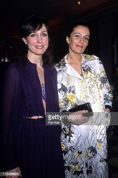 Elsa Zylberstein and Zoe Felix during Sidaction 2007 Auction Dinner Against AIDS January 25 2007 at Pavillon D Armenonvillle in Paris France
