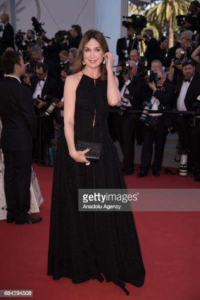 Elsa Zylberstein arrives for the screening of the film 'Les Fantomes dIsmael' out of competition and the Opening Ceremony of the 70th annual Cannes...