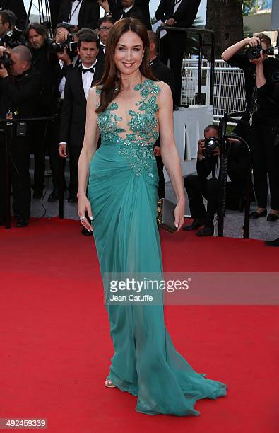 Elsa Zylberstein attends 'Deux Jours Une Nuit' premiere during the 67th Annual Cannes Film Festival on May 20 2014 in Cannes France