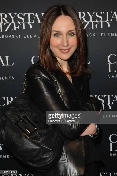 Elsa Zylberstein attends the 22 Iconic Little Black Dresses by Swarovski at Hotel Pozzo di Borgo on January 27 2010 in Paris France