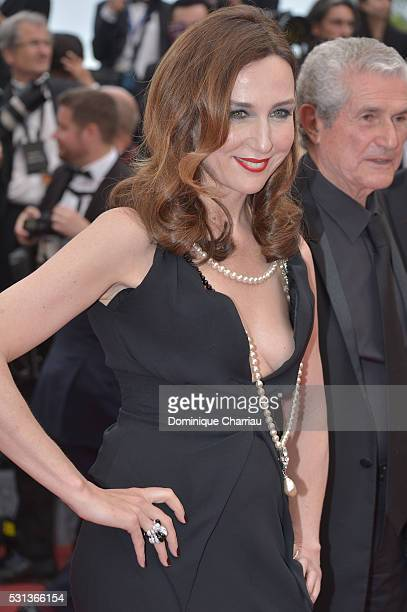 Elsa Zylberstein attends 'The BFG ' premiere during the 69th annual Cannes Film Festival at the Palais des Festivals on May 14 2016 in Cannes France