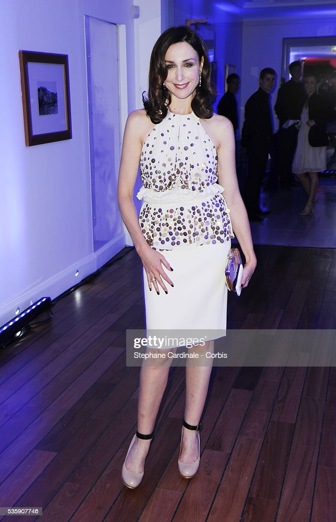 Elsa Zylberstein attends the 'Dior Dinner' during the 63rd Cannes International Film Festival.
