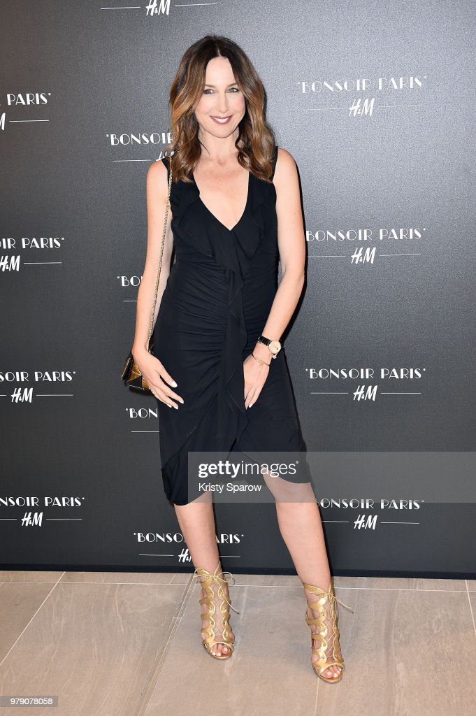 Elsa Zylberstein attends the H&M Flagship Opening Party as part of Paris Fashion Week on June 19, 2018 in Paris, France.
