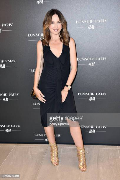 Elsa Zylberstein attends the HM Flagship Opening Party as part of Paris Fashion Week on June 19 2018 in Paris France