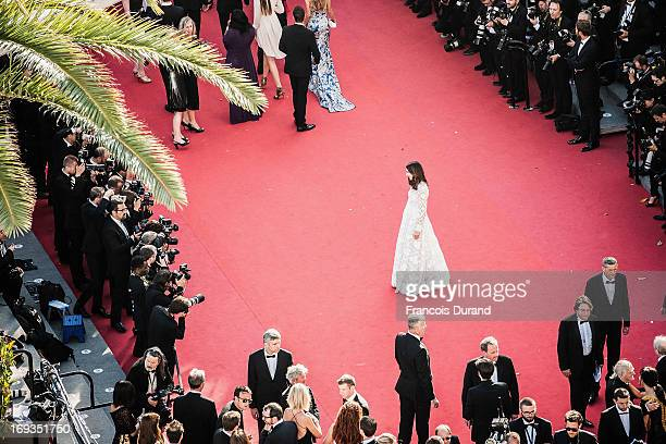 Elsa Zylberstein attends the 'Nebraska' premiere during The 66th Annual Cannes Film Festival at the Palais des Festival on May 23 2013 in Cannes...