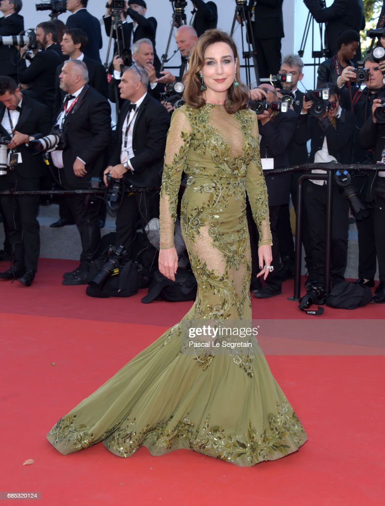 Elsa Zylberstein attends the 'Okja' screening during the 70th annual Cannes Film Festival at Palais des Festivals on May 19, 2017 in Cannes, France.