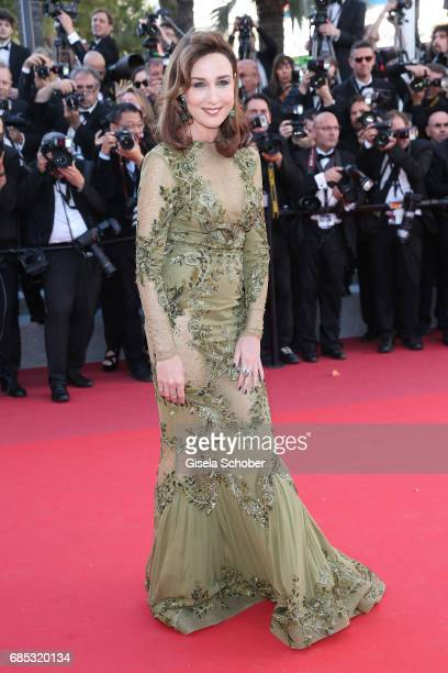 Elsa Zylberstein attends the Okja screening during the 70th annual Cannes Film Festival at Palais des Festivals on May 19 2017 in Cannes France
