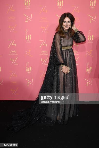Elsa Zylberstein attends the opening ceremony gala dinner of the 74th annual Cannes Film Festival on July 06, 2021 in Cannes, France.