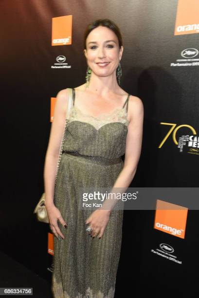 Elsa Zylberstein attends the Orange Justice Concert Party Hosted by Orange at Plage du Majestic during the 70th annual Cannes Film Festival at plage...