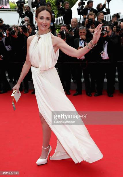 Elsa Zylberstein attends 'The Search' premiere during the 67th Annual Cannes Film Festival on May 21 2014 in Cannes France