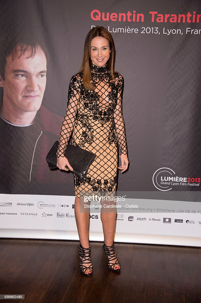 Elsa Zylberstein attends the Tribute to Quentin Tarantino, during the 5th Lumiere Film Festival, in Lyon.