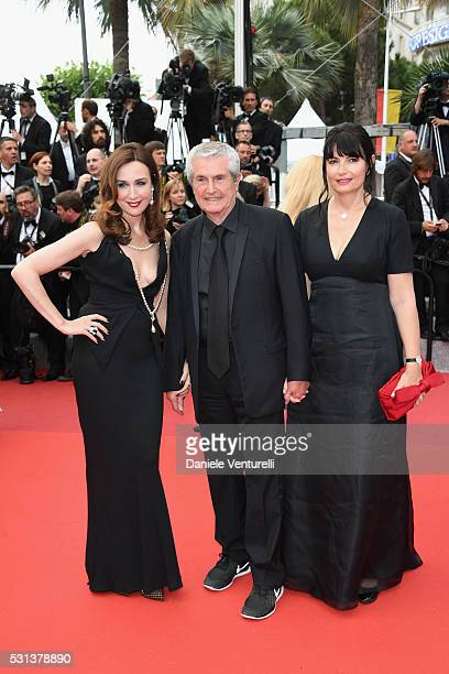 Elsa Zylberstein Claude Lelouch and Valerie Perrin attend 'The BFG ' premiere during the 69th annual Cannes Film Festival at the Palais des Festivals...