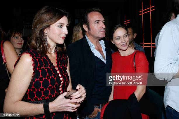 Elsa Zylberstein Jean Dujardin and Nathalie Pechalat attend Claude Lelouch celebrates his 80th Birthday at Restaurant Victoria on October 30 2017 in...